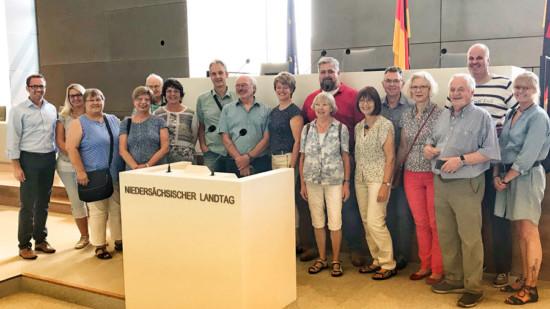 Besuchergruppe im Landtag