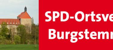 Die Poppenburg mit dem Namen des Ortsvereins